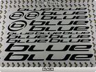 BLUE BIKES Decals Stickers BMX MTB Frames Bicycles Bikes COLORS Available A62E