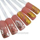 Xmas Gift 3D gold Decal Stickers Nail Art Tip DIY Decoration stamping Manicure
