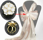 flower scarf ring 3 holes scarf rings DIY bowknot elegant fashion accessoryPT800
