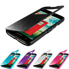 For LG Optimus L70 Magnetic Wallet Closing Flip Hard Case Cover