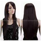 Fashion Sexy Lady Women Lace Long Straight Brown/Black Party Costumes Hair Wig