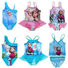 Girls Kid Swimwear Frozen Elsa Bikini Tankini Swimsuit 2-9Y Swimming Costume NWT