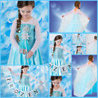 Frozen Elsa Anna Halloween Christmas Party Girls Costume Dresses SZ 3-4-5-6-7-8Y
