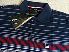 LARGE FILA NAVY POLO SHIRT Cotton New Leisure Tennis NEW WITH TAGS