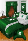 Michigan State Spartans Comforter Sham & Valance Set Twin Full Queen King