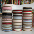 East Of India Ribbons Stitches & Stripes 3m Metre Reel Ribbon Various Designs