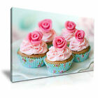 MODERN ART CUPCAKE Canvas Kitchen Deco Framed Print - More Size