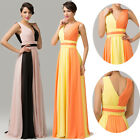 NEW Splicing~Maxi Evening Cocktail Party Ball Gown Prom Wedding Bridesmaid Dress