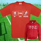 EAT, SLEEP, MORECAMBE FOOTBALL T SHIRT / HOODIE - KIDS ADULTS  TOP
