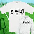 EAT, SLEEP, COUNTY FOOTBALL T SHIRT / HOODIE - KIDS ADULTS  TOP NOTTS