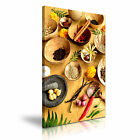 INDIAN SPICE HERB PEPPER Canvas Framed Print Restaurant Deco - More Size