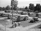 1941 DEPRESSION ERA WPA FSA TRAILER PARK VACHON PHOTO