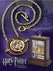 Cute Time Turner Chram Necklace Hermione Granger Rotating Spins Gold Hourglass