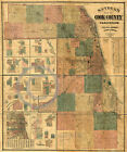 1886 Historical Property Ownership Map Cook County Illinois