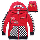 Cars Lightning McQueen Kids Toddlers Boys Girls Zipper Hoodies Aged 2-8 Years