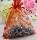 Free Ship 50Pcs Organza Jewelry Packing Pouch Wedding Favor Heart Gift Bags Hot