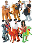 Deluxe Adult Step In Riding Ride On Animal Costumes Funny Pantomine Fancy Dress