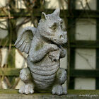 NEW Cute Dragon Ornament Stone Effect Garden Sculpture Standing Gargoyle Statue