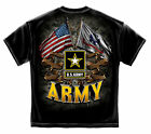 US Army Double Flag High Quality T shirt  Print Both Sides