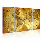 MAP 3 3B Canvas Framed Printed Wall Art ~ 3 Panels ~ More Size