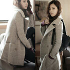 Women's New Winter Warm Coats Fashion Slim Fit Overcoats Woolen Peacoat XZ0030