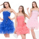 Womens Lady Sexy Mini Dress Bowknot Gown Bridesmaid Prom Cocktail Evening Party