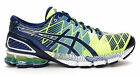 Asics Gel Kinsei 5 Running Shoes Mens Flash Yellow Blue Depths White T3E4Y 04