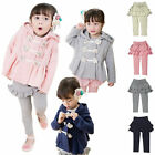 Girls Kids Winter Warm Coat Jacket Snowsuit Hoodies Outwear 2-7Y Padded Clothing