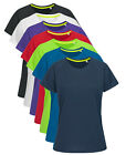 Ladies Womens Womans Active Dry Stretchy Polyester Sports T-Shirt Tshirt Tee
