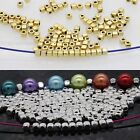 100/500 Pcs Loose Cube Tibetan Silver Spacer Beads Jewelry Findings DIY 3.5*3mm