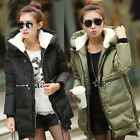 New Women's Winter Down Jacket Hooded Zipper Pocket Parka Coat Warm Outerwear