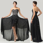 Fairy Beaded Long Bridesmaid Cocktail Prom Ball Gown Party Formal Evening Dress