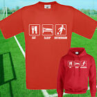 EAT, SLEEP, ROTHERHAM FOOTBALL T SHIRT / HOODIE - KIDS ADULTS  TOP