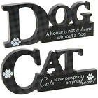 PET DOG CAT PLAQUE SIGN GIFT SET MANTEL WALL POETIC MESSAGE NEW WOODEN CUT OUT