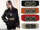 Totem Buckle Retro Belt Knot Elastic Stretch Buckle Wide Waist Belt Waistband