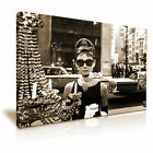 Audrey Hepburn Hollywood Icon Modern Wall Art Canvas Print Framed ~ Many Sizes
