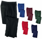 MEN'S RELAXED WARM-UP PANTS, POCKETS, LEG ZIPPERS, WORK OUT,  XS-M L XL 2X 3X 4X
