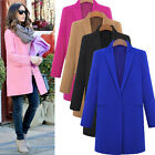 2014 NEW Celeb Womens Winter Cashmere Wool Coat Trench Long Outwear Jacket Parka