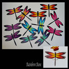 Transparent Film Dragonfly #54 Rainbow Size 4 PRE-CUT 6 or 12 suncatchers etc 3D