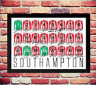 SOUTHAMPTON 14/15 SQUAD TEAM SIGNED AUTOGRAPH PHOTO POSTER PELLE TADIC LONG MANE
