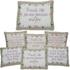 BEST FRIEND CUSHIONS PILLOW SOFT LOVE MESSAGE GIFT SENTIMENTAL HOME DECORATION