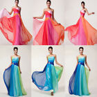 2015 Hot Long Maxi Chiffon Bridesmaid Evening Formal Party Ball Gowns Prom Dress