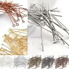 100pcs Gold/Silver Plated Ball Pins Jewellery Making Craft DIY 25/30/35/40/50mm