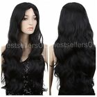 Stylish Women Sweety Long Wavy Curly Cospaly Party Full Synthetic Hair Wig + Cap