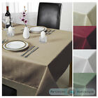 Chequered Jacquard Tablecloth in 7 Colours Shapes & Sizes + Napkins Rectangular