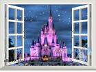 60X80cm Disney Princess Castle Star 3D Window Wall Decals Stickers Kids Decor