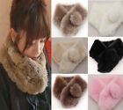 Women's  Unique design Celeb Faux rabbit fur collar Pink Scarves multi-colors