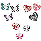 SCARF HANGERS *ROSE, BUTTERFLY, HEART DESIGNS - VARIOUS COLOURS* STOCKING FILLER