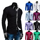 Mens Fashion Long Sleeve Dress Shirt Casual Shirt Slim Fit Tee Shirts Fashion