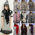 Vogue Design Girl Lady Soft Faux Fur Scarf Neck Scarves Shawl Muffler Wraps EWUK